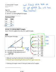3.1 Solving Right Triangles