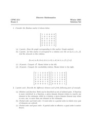 Discrete Mathematics Exam Solutions
