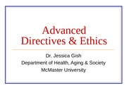 Advanced Directives & Ethics