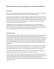 Ethical Dimensions of The Rana Plaza Scandal _ Business Ethics.docx