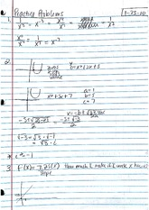 Notes, Polynomial Functions