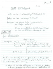 PHYS 507 Lecture 1 Notes