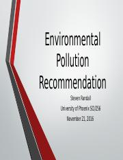 Environmental Pollution Recommendation