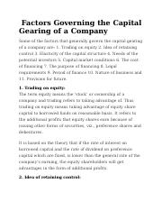11 Factors Governing the Capital Gearing of a Company.docx
