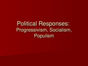 Lecture 7 - Political Responses