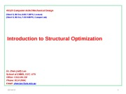 49325 CAMD Lecture 09 (06 Oct 2015) Structural Optimization V2
