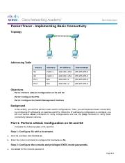 2.3.2.5 Packet Tracer - Implementing Basic Connectivity.docx