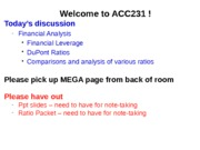 ACC231-Wk 15-Class 1-DuPont Analysis PLUS RC-Kemp Ch 12-Financial Analysis Review-SV
