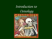 Intro to osteology