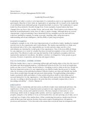 Week 2_ Leadership paper