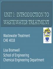 UNIT 1  INTRODUCTION TO WASTEWATER TREATMENT.ppt