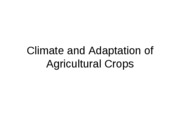 3 - Climate and Adaptation of Agricultural Crops