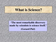 Topic 01 What Is Science