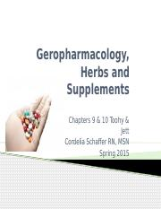 Module 3 part 1_Geropharmacology and herbals.pptx