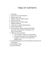 TABLE OF CONTENT1
