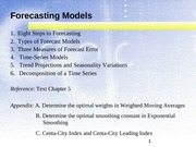 Topic 3 Forecasting (2)