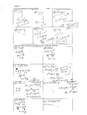 Homework on extranous solutions to radicals equations