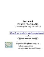 Section 4 Phase diagrams