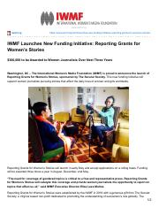 iwmf.org-IWMF Launches New Funding Initiative Reporting Grants for Womens Stories