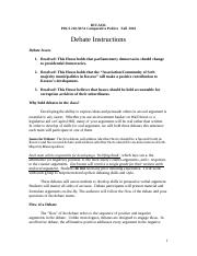 Instructions for Debates  Fall 2016 - final