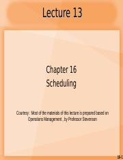Lecture 14_CH16 Scheduling