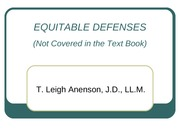 O - EQUITABLE DEFENSES