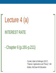 Lecture 4 (Interest Rate and Bond Valuation).pptx