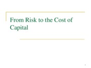 4Risk and Cost of Capital6