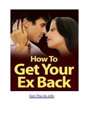 How to Get Your Ex Back - www. UltimatePLRFiresale.com
