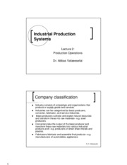 Lecture 2 Production Operations