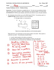 Teacher Proficiency Test 2 Solution on Problem Solving Derived from WASL Equations