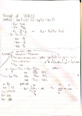 WACC notes