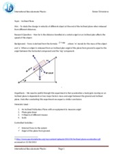 Inclined Plane Design lab Physics Aman