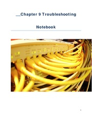 Chapter 9 Troubleshooting Notebook