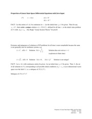 2011-10-07 Properties of Zero Input Linear State Space Equations