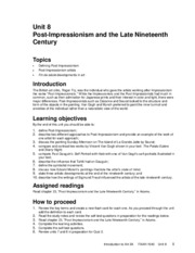Unit 8- Post- Impressionism and the Late 19th Century.pdf