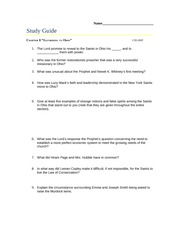 8. Gathering to Ohio Study Guide