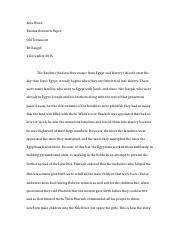 Exodus Research Paper