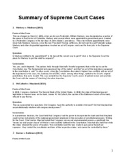 Summary of Court Cases