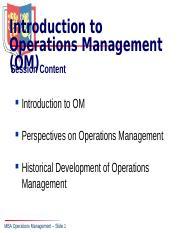 1B  Operations Management.ppt