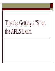 Tips_for_Getting_a_5_on_the_APES_exam.ppt