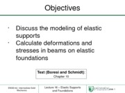 Lecture 16 - Elastic Foundations