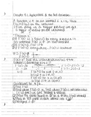 4.1 Applications of 1st Derivative- Calculus