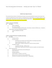 Exam # 1 Study Guide - Chapters 1 to 5.docx