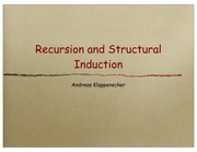 Lecture on Recursive Functions