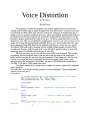 Voice Distortion