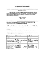 Printables Empirical Formulas Worksheet assignment do the empirical formula worksheet hydrates ib chem 11