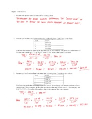Homework Chapter 13 answers