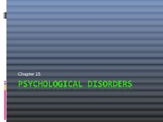 Psychological disorders4Students