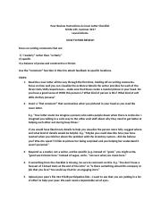 cover letter checklist and peer review instructions